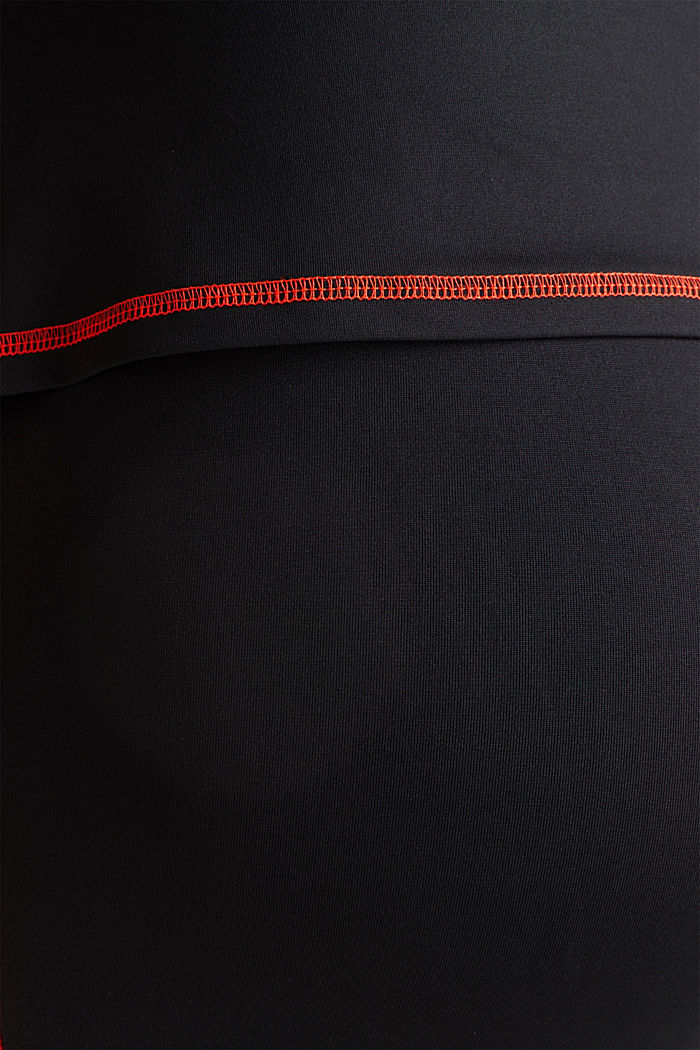 Layered top in a colour block look, BLACK, detail image number 4