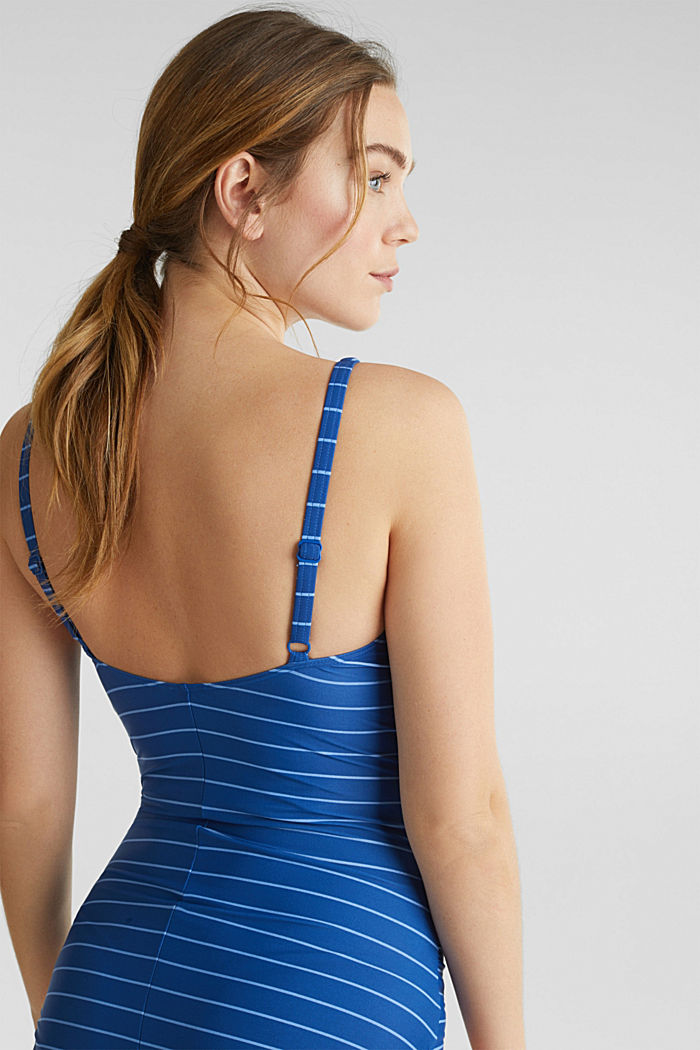 Padded swimsuit with stripes, BRIGHT BLUE, detail image number 3