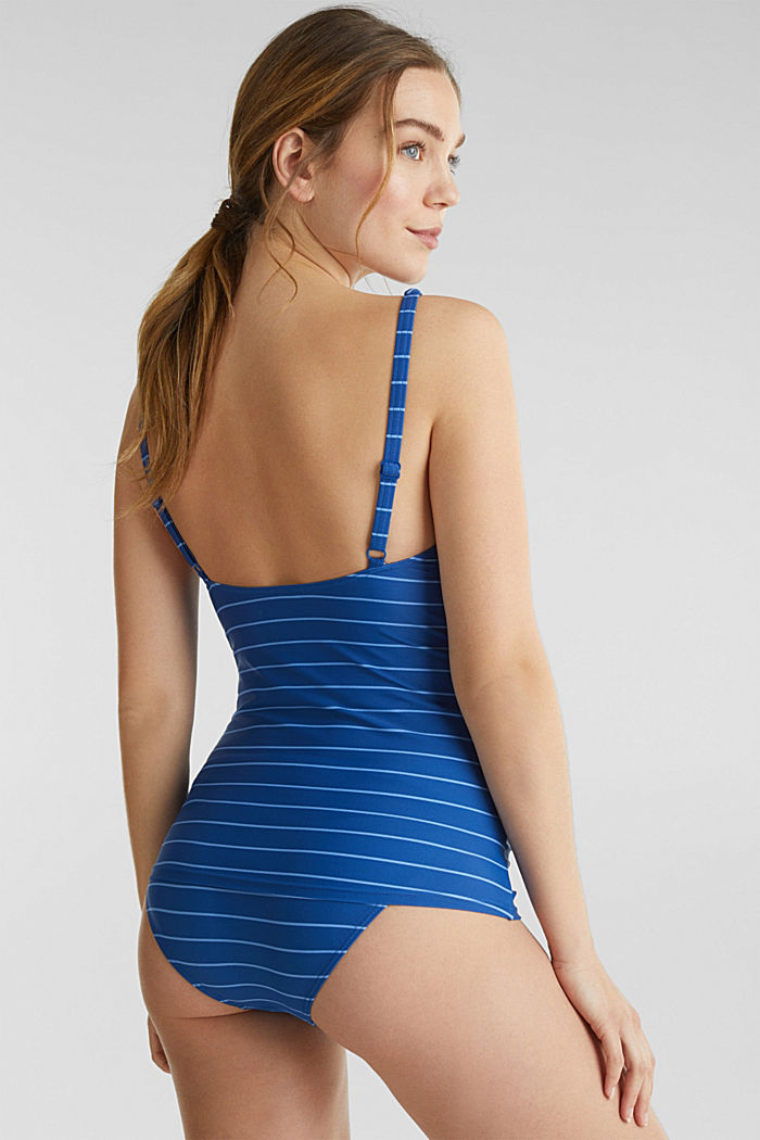 Padded top with a draped effect, BRIGHT BLUE, detail image number 1