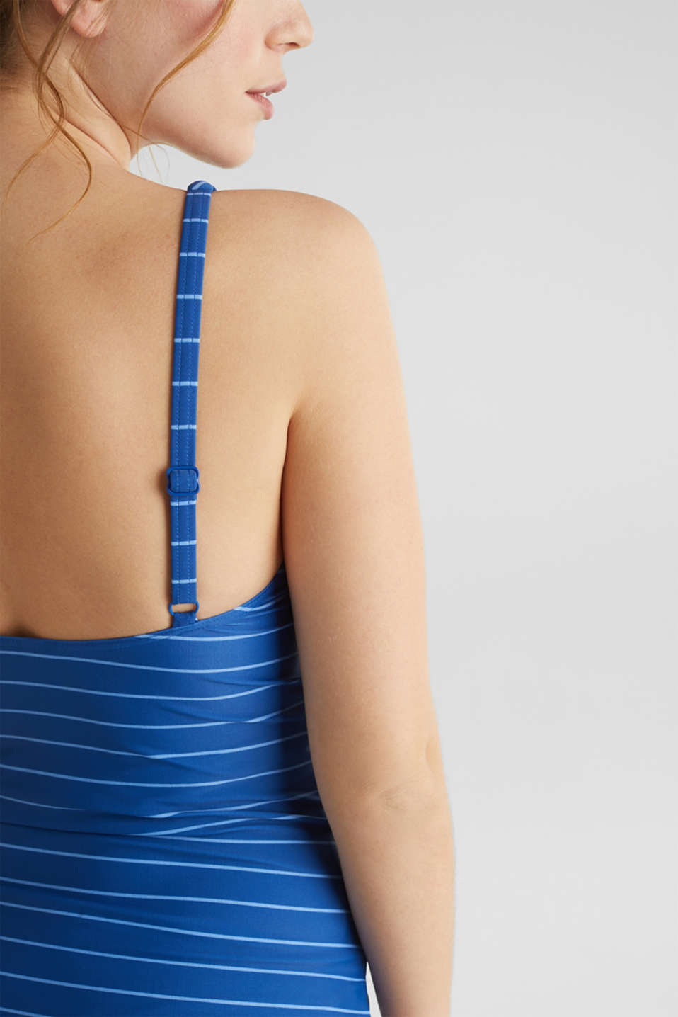 Padded top with a draped effect, LCBRIGHT BLUE, detail image number 2
