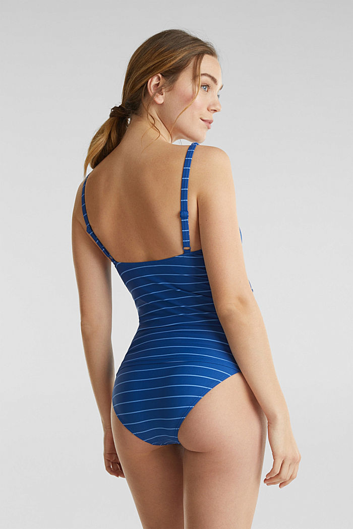 Midi bikini bottoms with a striped pattern, BRIGHT BLUE, detail image number 1