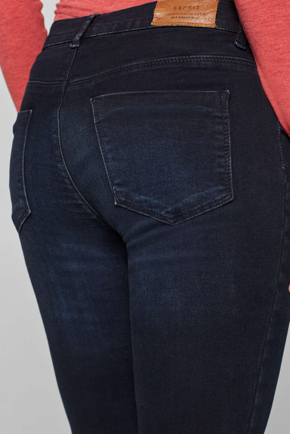 Jeggings with under-bump waistband, LCDARKWASH, detail image number 5