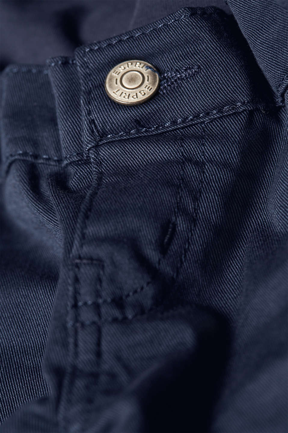 Cropped stretch trousers with an over-bump waistband, LCNIGHT BLUE, detail image number 4
