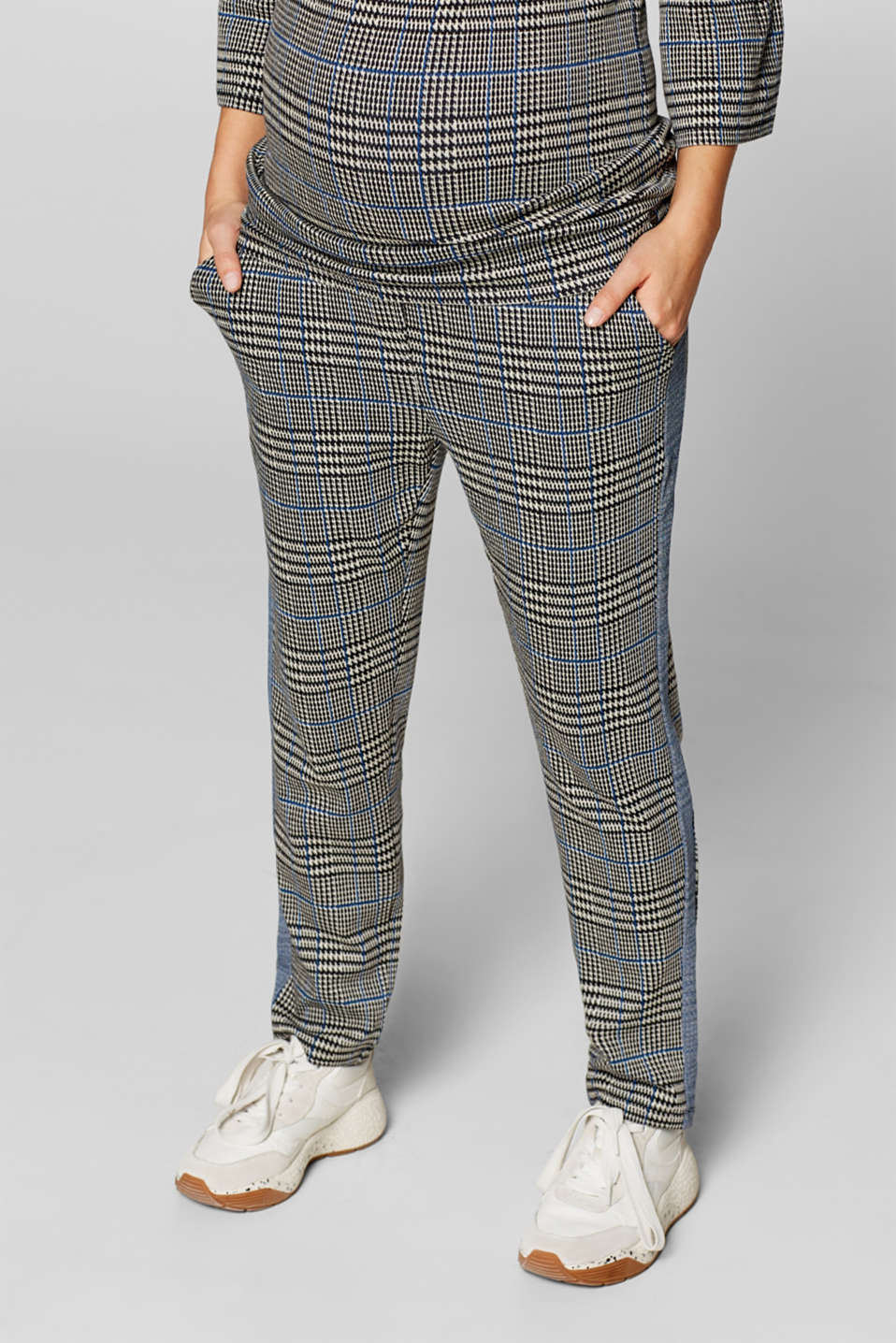 Cropped stretch jersey trousers with a wide waistband, LCBLACK, detail image number 6
