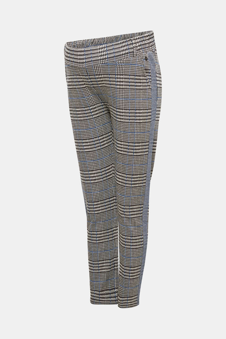 Cropped stretch jersey trousers with a wide waistband, LCBLACK, detail image number 7