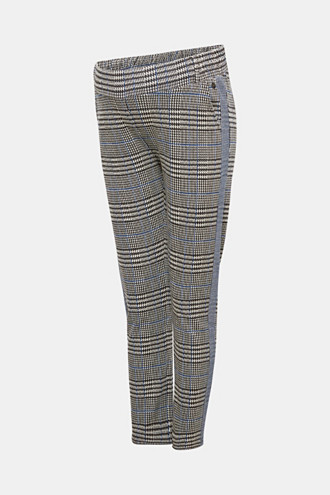 Cropped stretch jersey trousers with a wide waistband