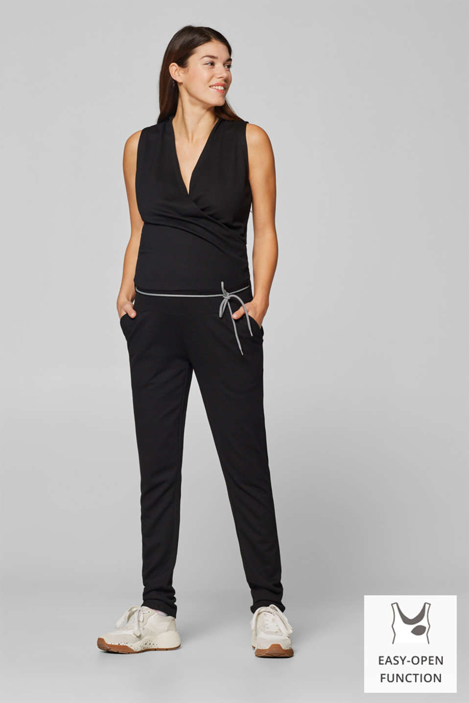 Esprit - Jersey-Stretch-Jumpsuit mit Stillfunktion