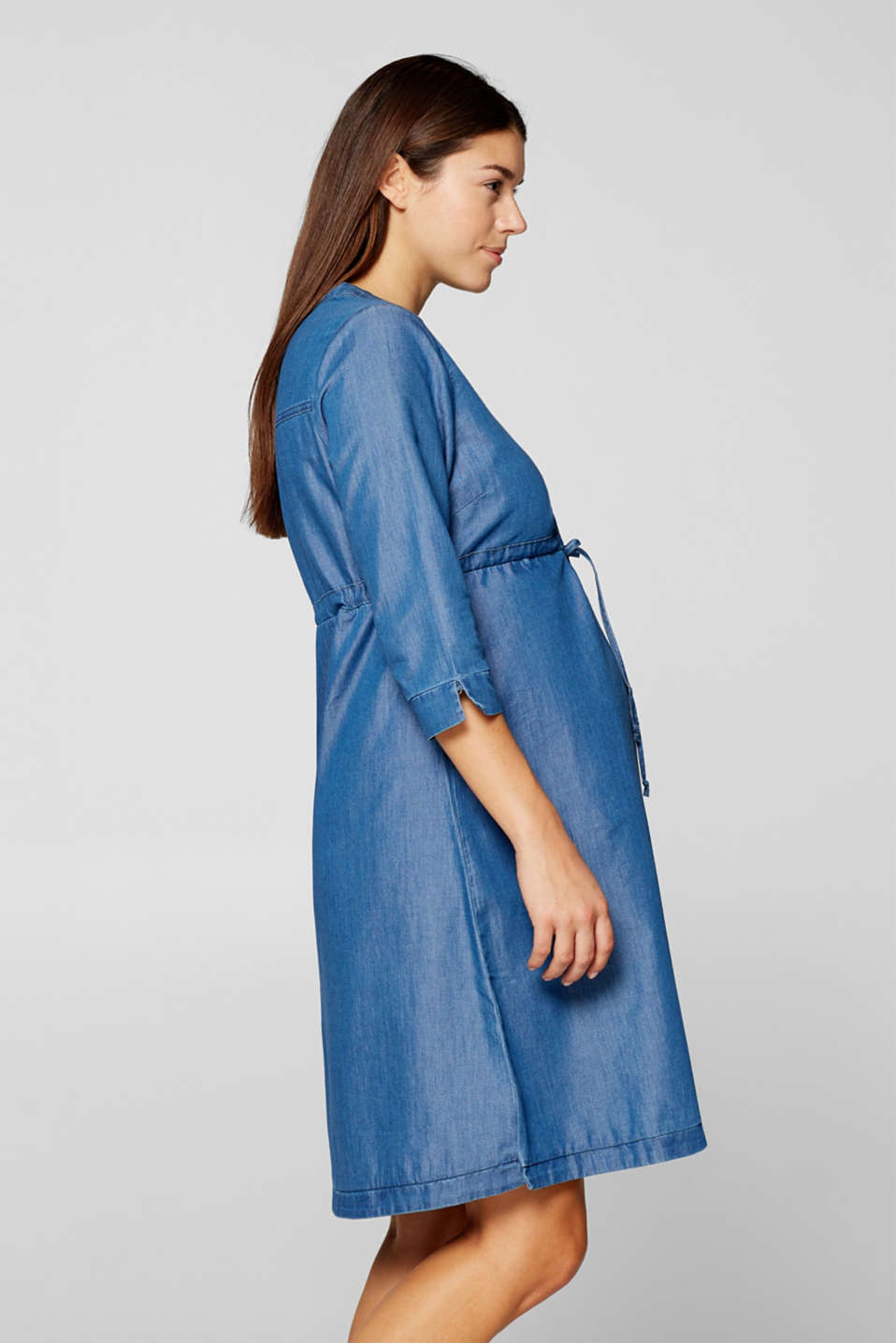 Esprit - Lightweight denim dress with nursing function