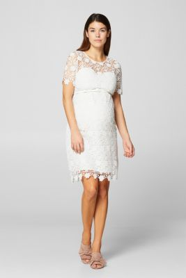Crocheted lace dress with a belt, LCOFF WHITE, detail
