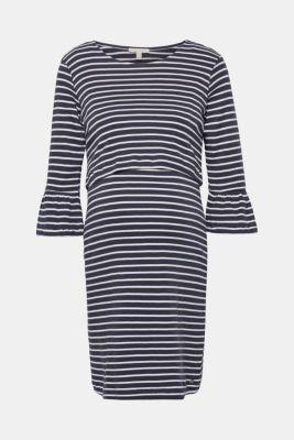 Nursing dress with organic cotton, 100% cotton, LCNIGHT BLUE, detail