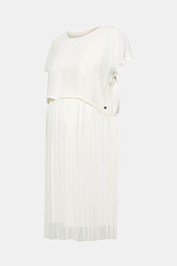 Material-Mix-Kleid mit Stillfunktion