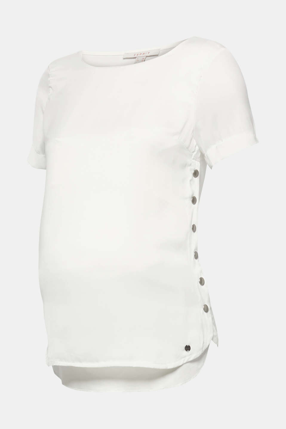 Mixed material top with a nursing function, LCOFF WHITE, detail image number 0