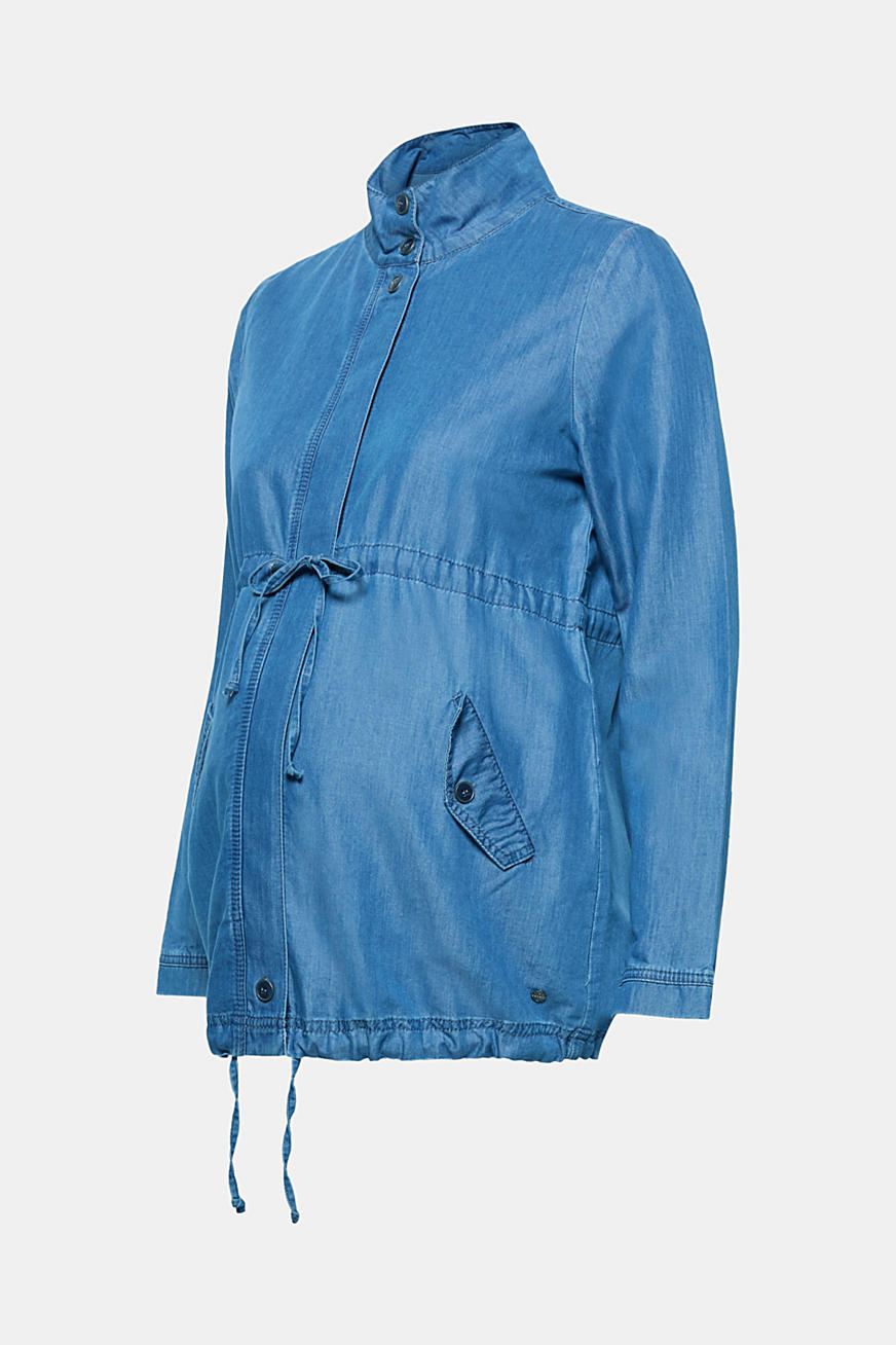 Parka van dun denim