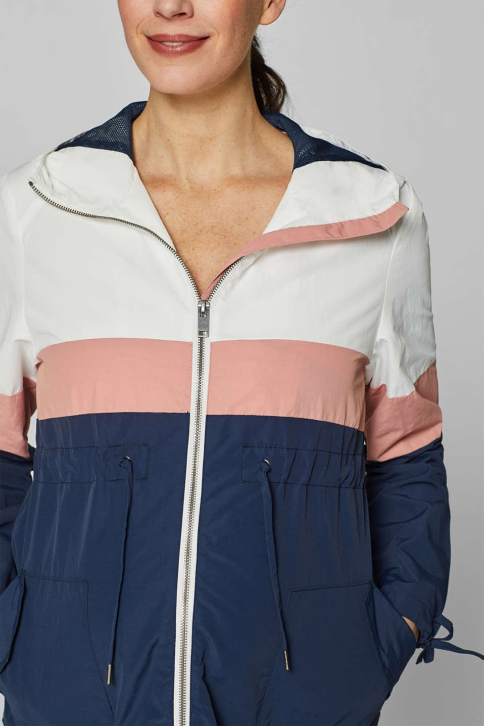 Parka in a colour block style, LCNIGHT BLUE, detail image number 0
