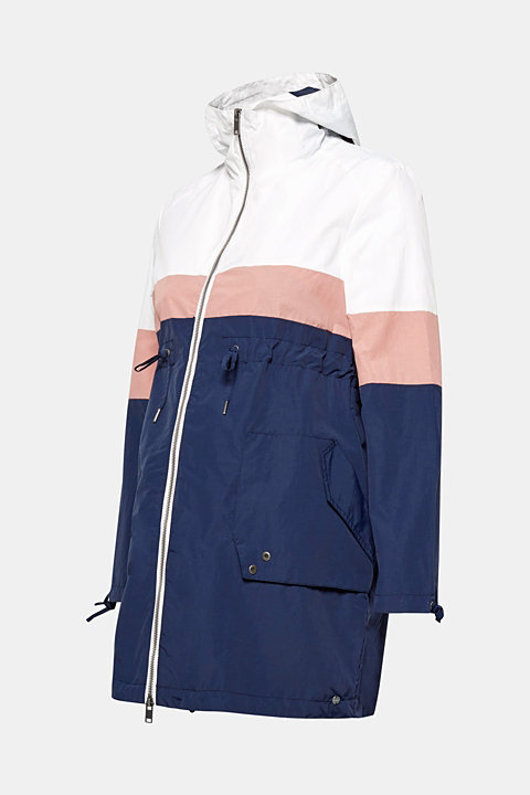 Parka in a colour block style