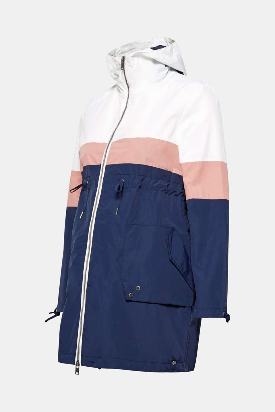 Parka in a colour block style, LCNIGHT BLUE, detail image number 1
