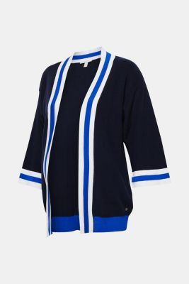 Cardigan with striped details, LCNIGHT BLUE, detail