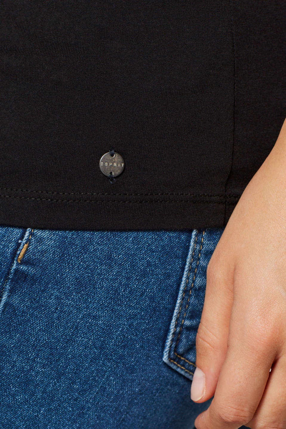 T-shirt with piping and bows on the sleeves, LCBLACK, detail image number 2