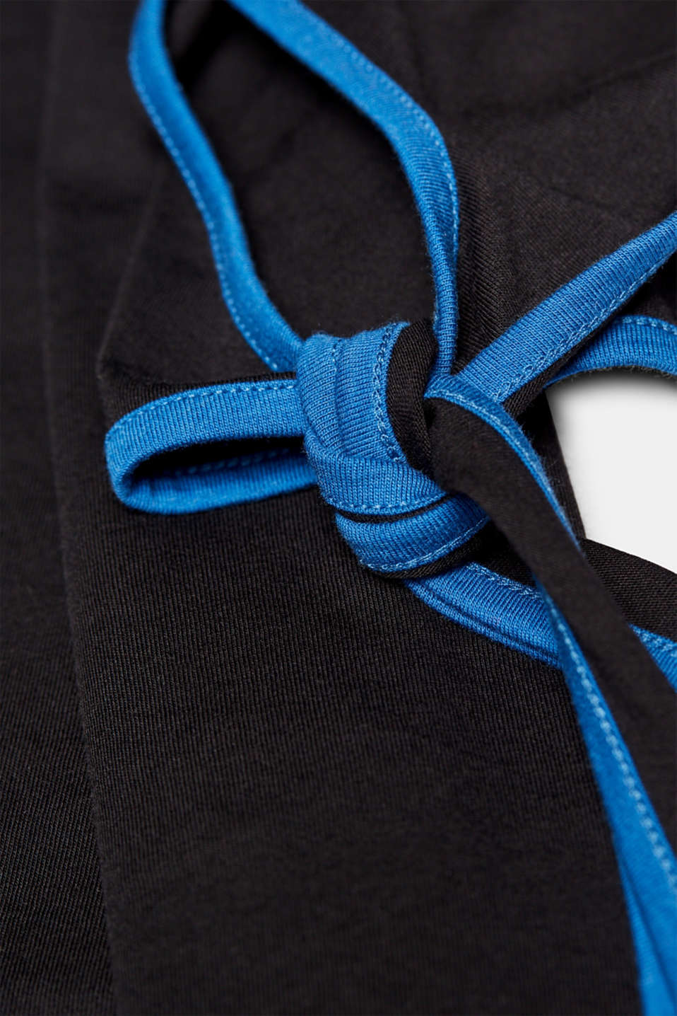 T-shirt with piping and bows on the sleeves, LCBLACK, detail image number 4