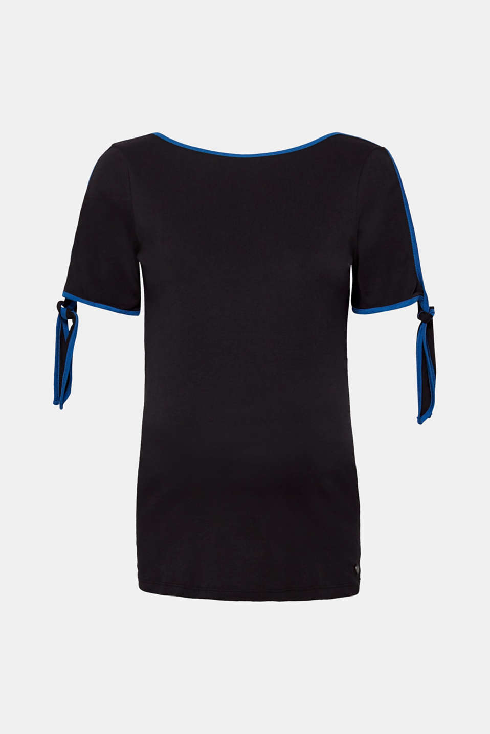 T-shirt with piping and bows on the sleeves, LCBLACK, detail image number 6