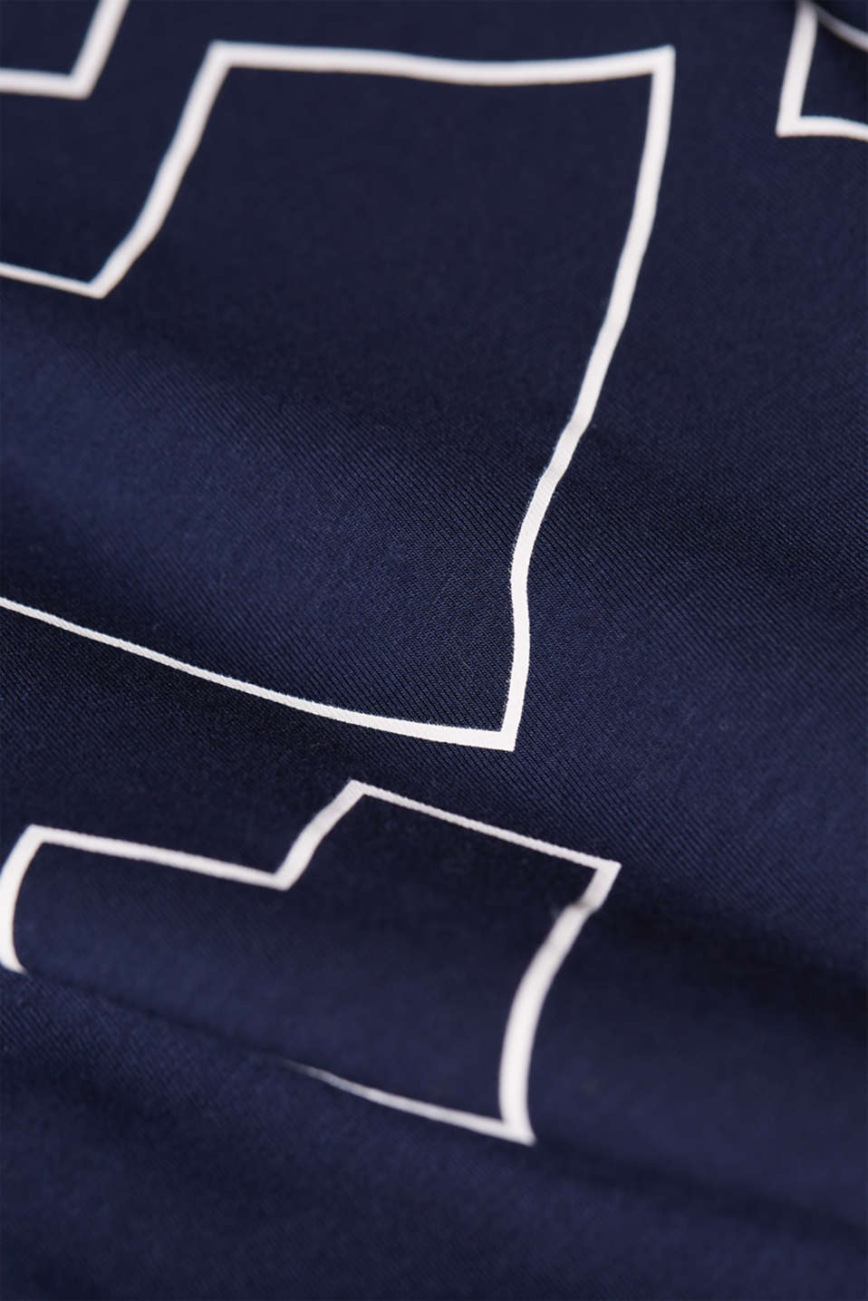 Stretch T-shirt with a print and a knotted detail, LCNIGHT BLUE, detail image number 4
