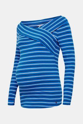 Stretch long sleeve nursing top, LCBRIGHT BLUE, detail