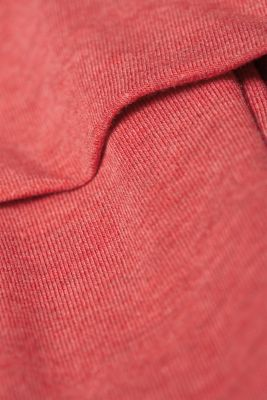 Stretch long sleeve nursing top, LCRED, detail