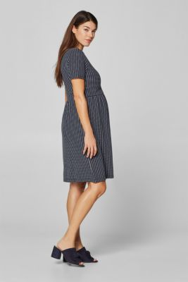 Stretch jersey nursing dress, LCNIGHT BLUE, detail