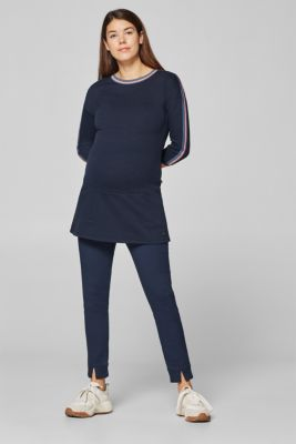 Sweatshirt tunic with striped woven tape decoration, LCNIGHT BLUE, detail