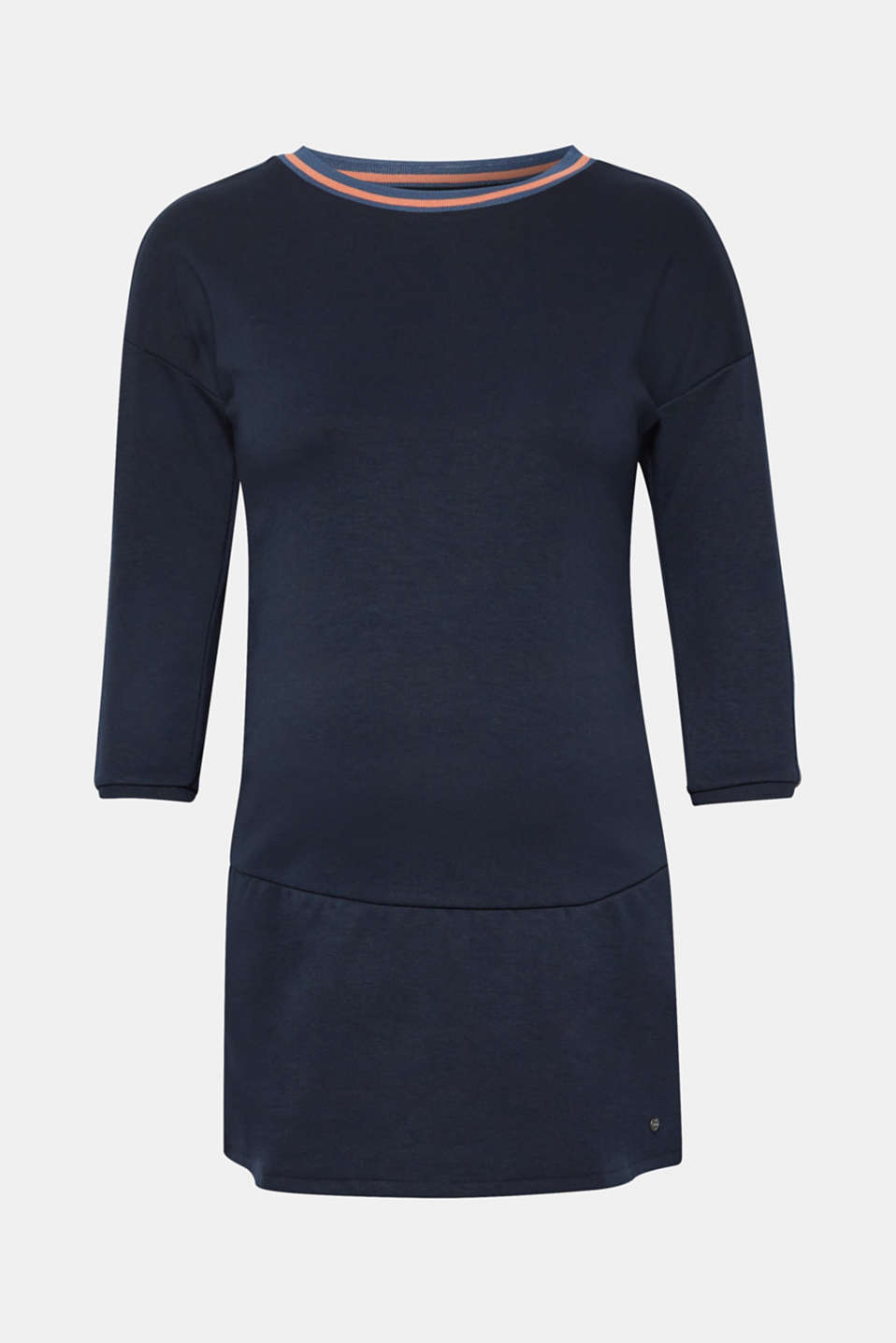 Sweatshirt tunic with striped woven tape decoration, LCNIGHT BLUE, detail image number 6