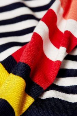 Jumper with striped accents, 100% cotton