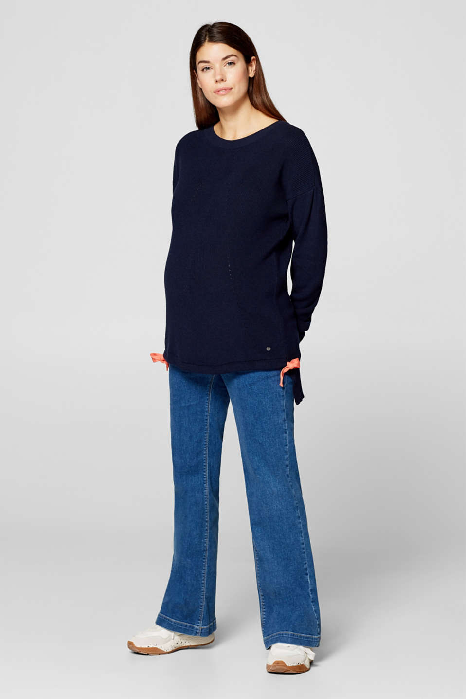 Jumper with bow details, LCNIGHT BLUE, detail image number 1