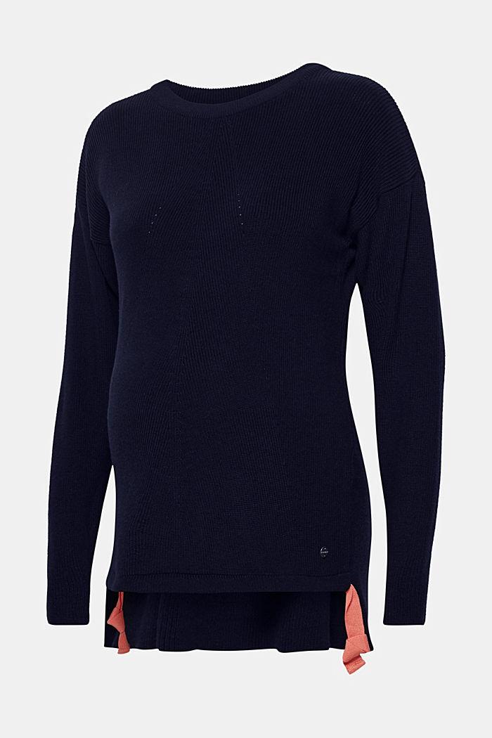 Pullover mit Schleifen-Details, NIGHT BLUE, detail image number 0
