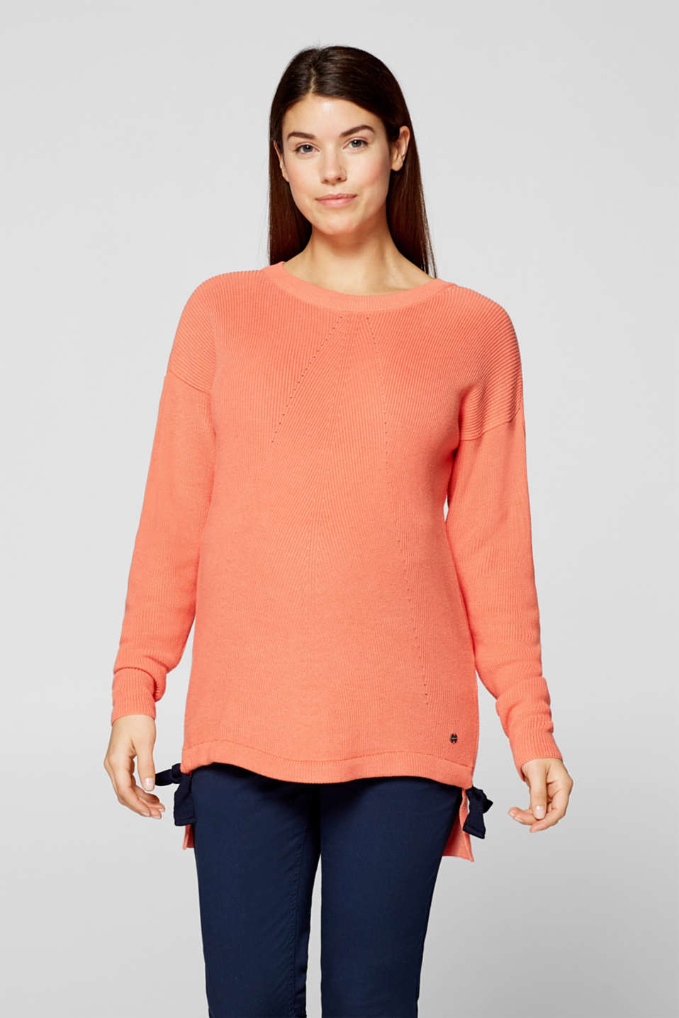 Jumper with bow details, LCCORAL ORANGE, detail image number 0