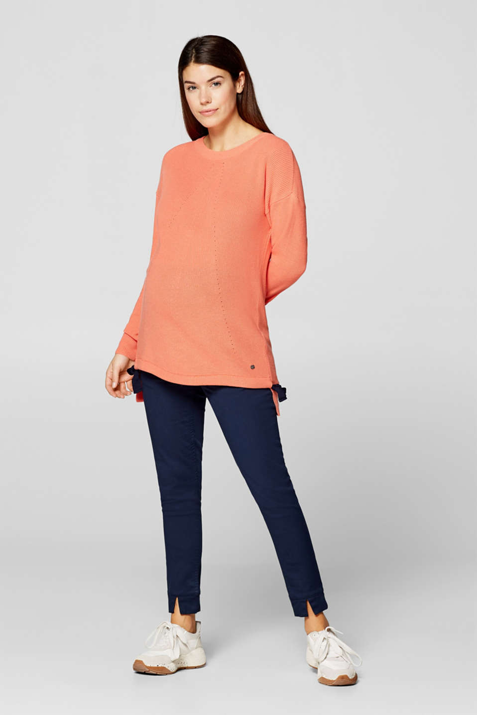 Jumper with bow details, LCCORAL ORANGE, detail image number 1