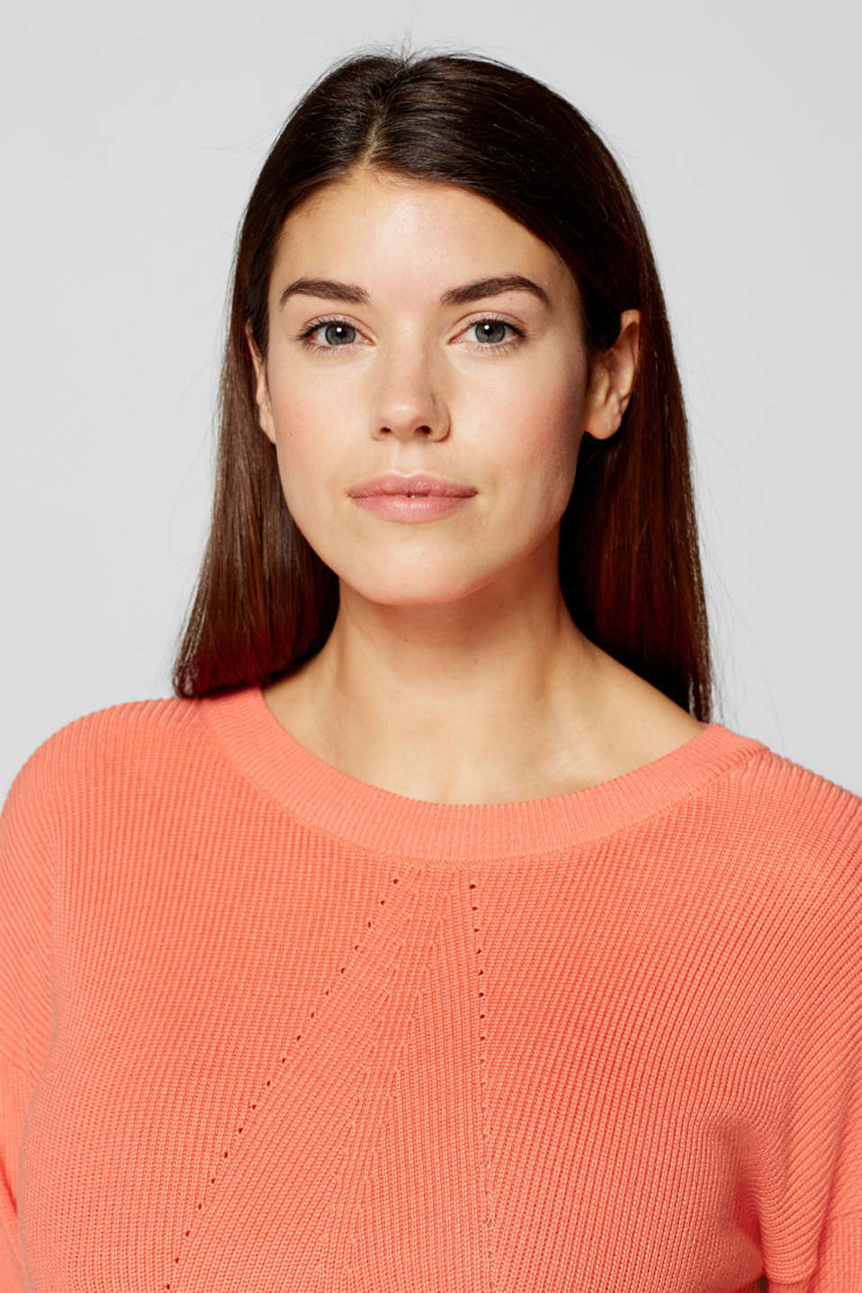 Jumper with bow details, LCCORAL ORANGE, detail image number 2