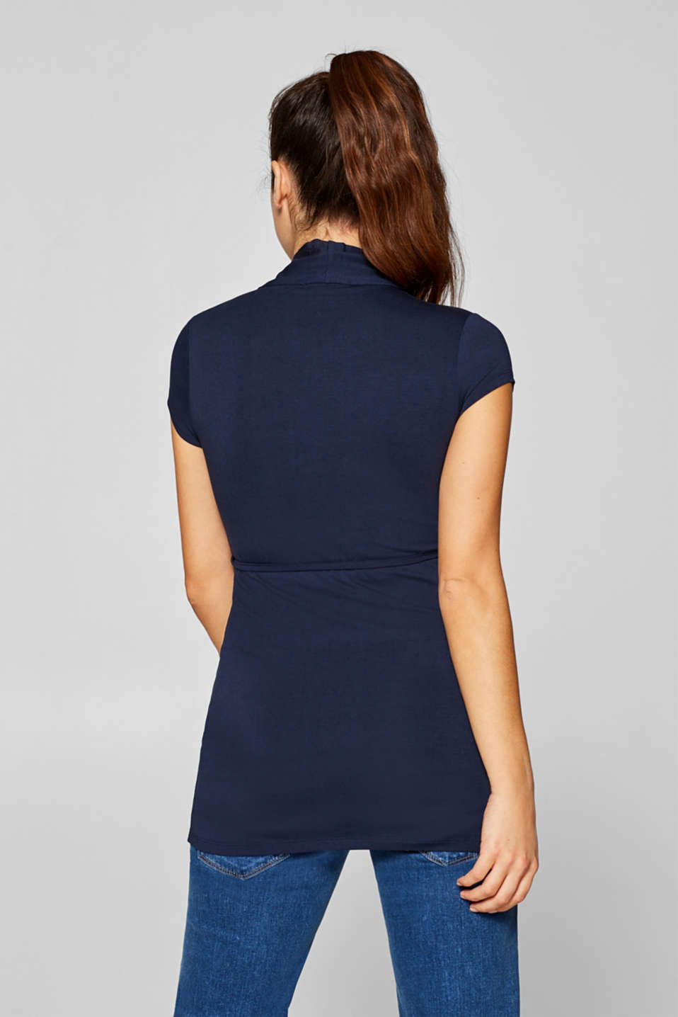 Stretchy nursing top, LCNIGHT BLUE, detail image number 3