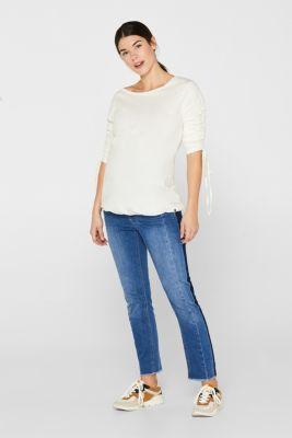 7/8 stretch jeans with an under-bump waistband, LCMEDIUM WASH, detail