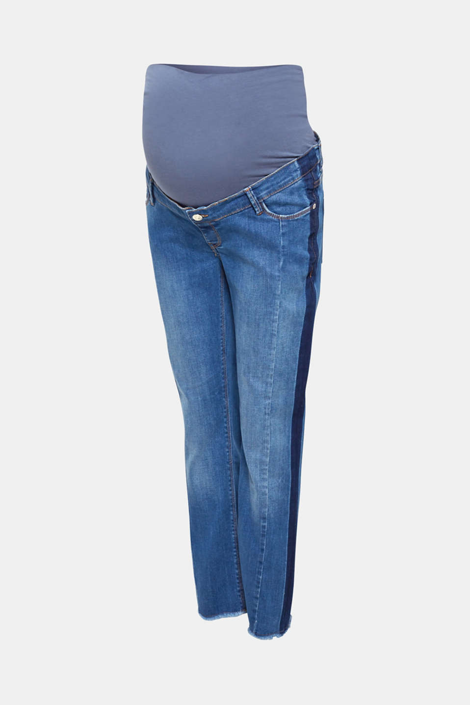 7/8 stretch jeans with an under-bump waistband, LCMEDIUM WASH, detail image number 6
