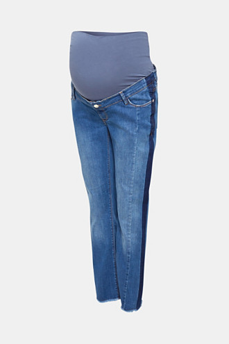 7/8 stretch jeans with an under-bump waistband