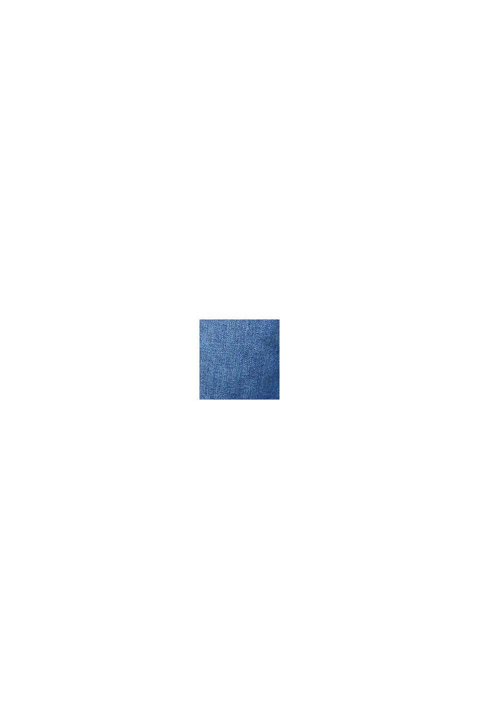 Szorty z elastycznego dżinsu z panelem, BLUE MEDIUM WASHED, swatch
