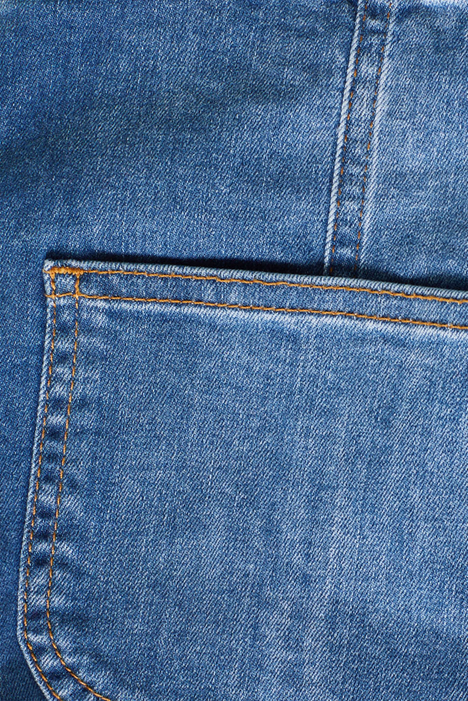 Denim dungaree shorts with stretch for comfort, LCMEDIUM WASH, detail image number 4