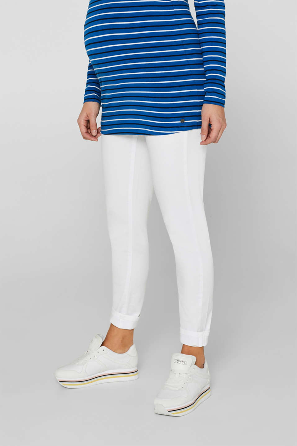 Stretch jeans with an over-bump waistband, LCWHITE, detail image number 0