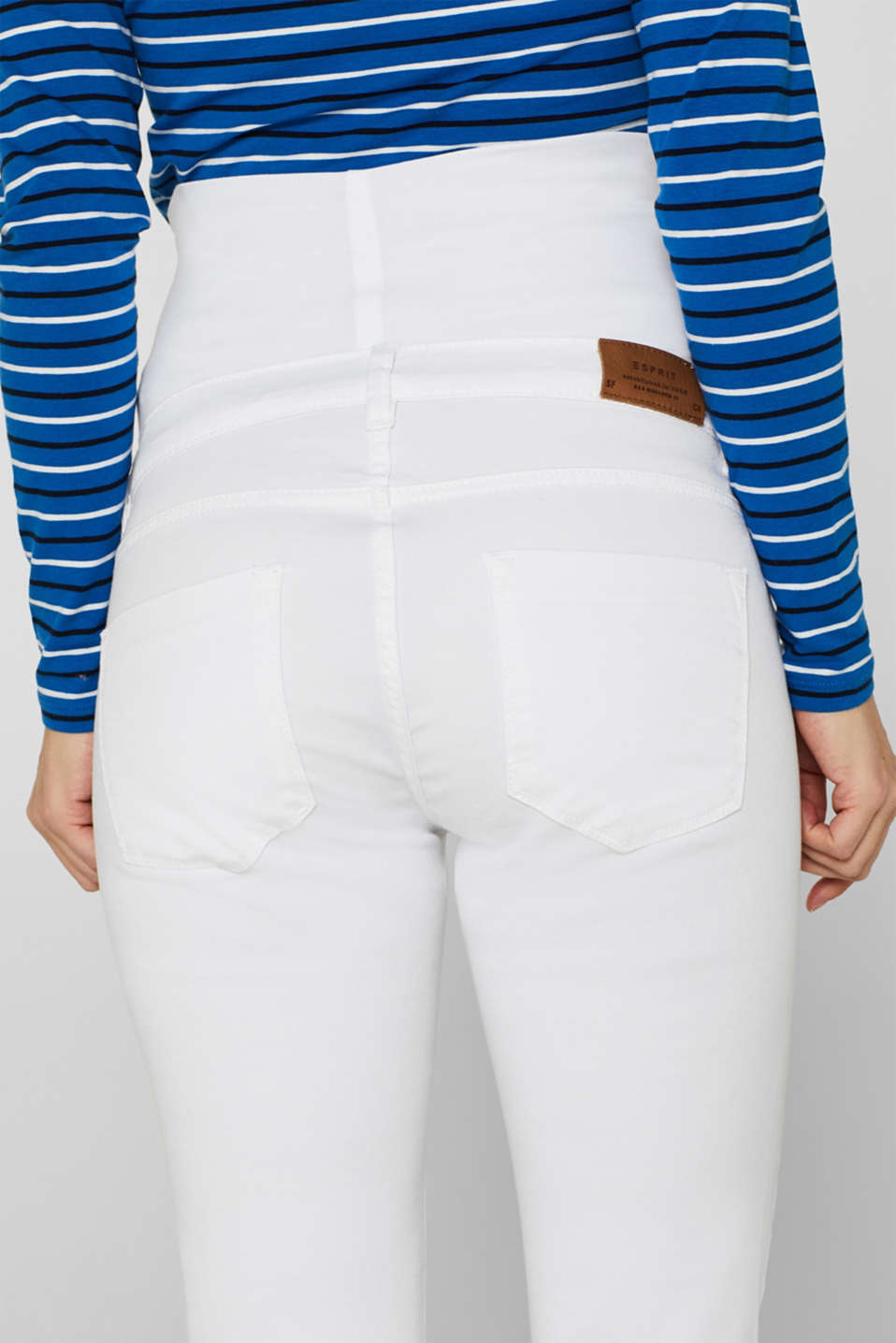 Stretch jeans with an over-bump waistband, LCWHITE, detail image number 4