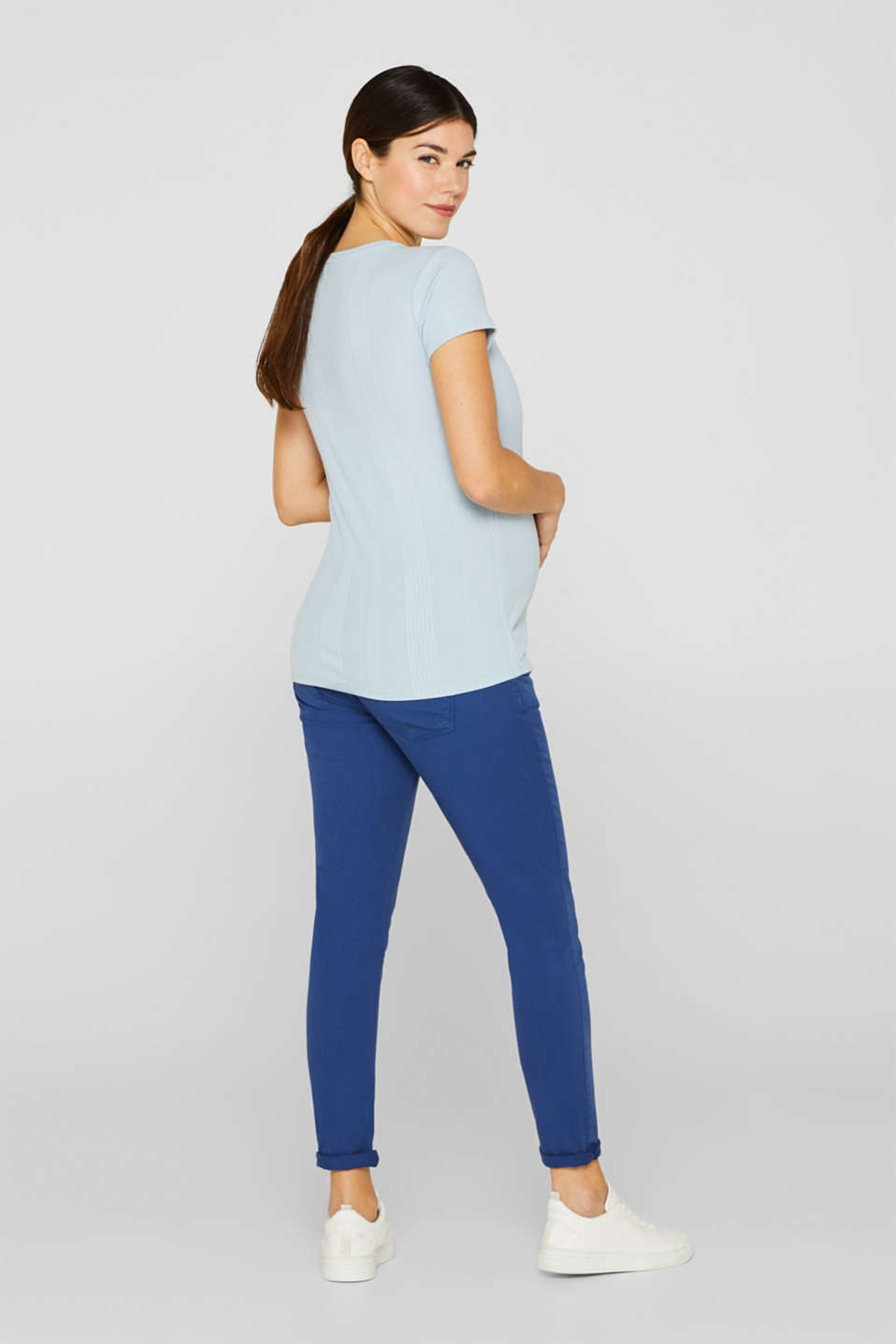 Stretch jeans with an over-bump waistband, LCDARK BLUE, detail image number 3