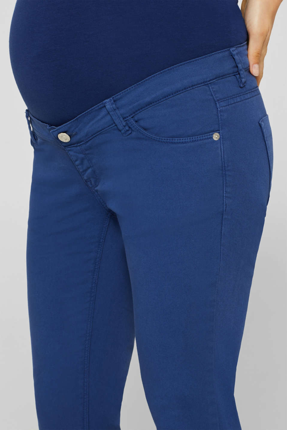 Stretch jeans with an over-bump waistband, LCDARK BLUE, detail image number 2