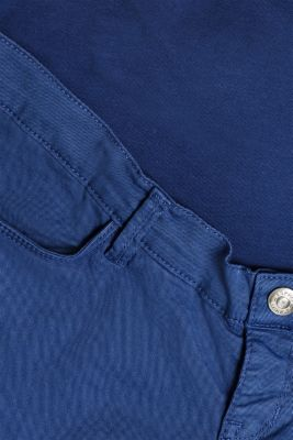 Stretch jeans with an over-bump waistband, LCDARK BLUE, detail