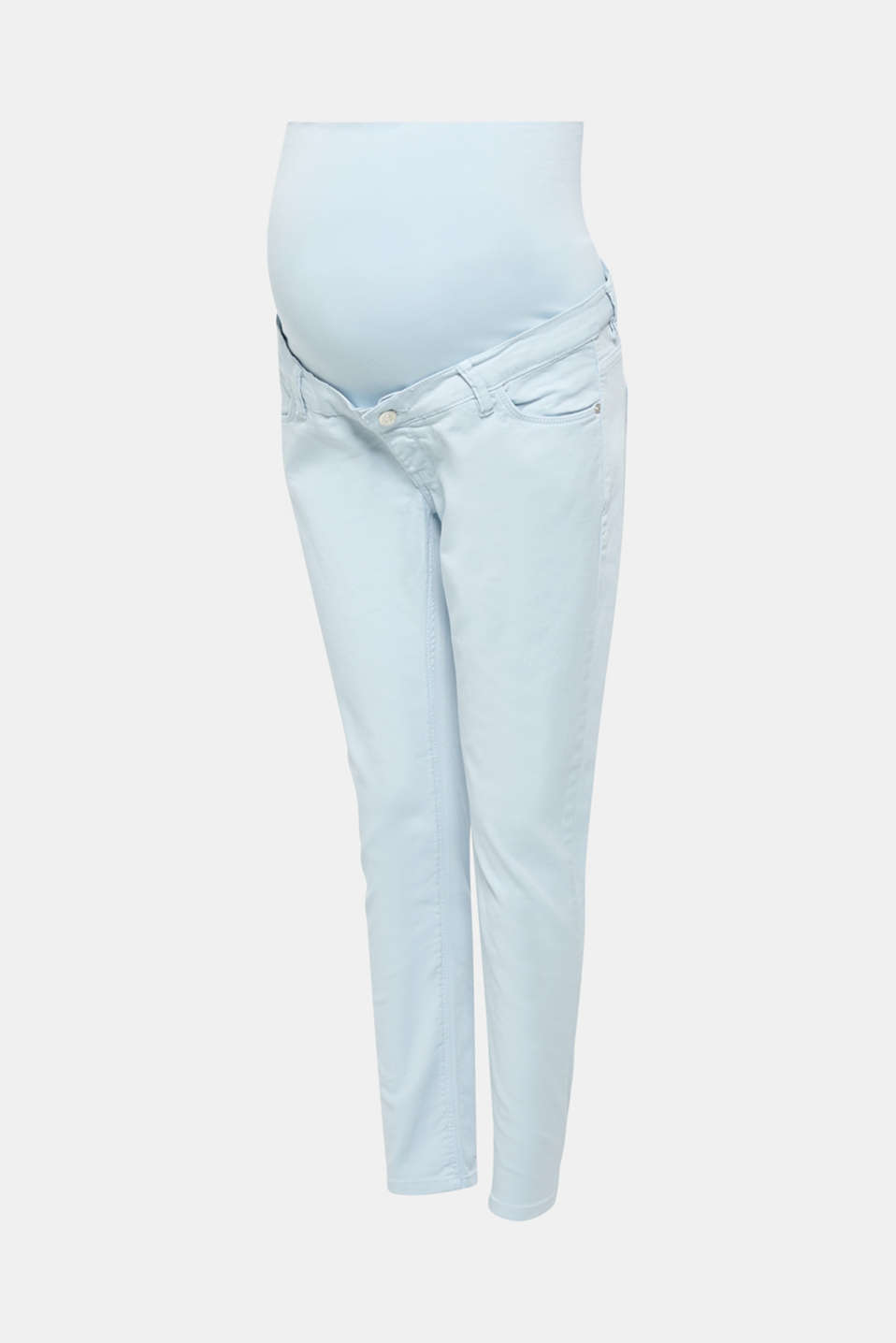 Stretch jeans with an over-bump waistband, LCLIGHT BLUE, detail image number 6