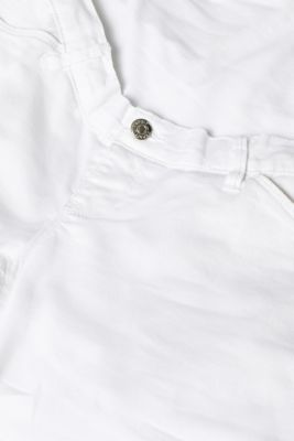 Chino shorts with an under-bump waistband, LCWHITE, detail