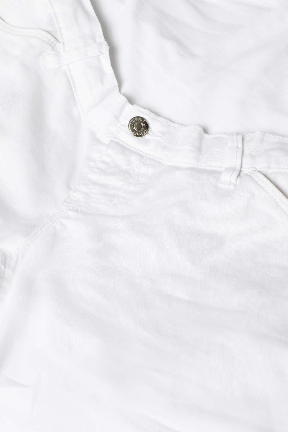 Chino shorts with an under-bump waistband, LCWHITE, detail image number 4